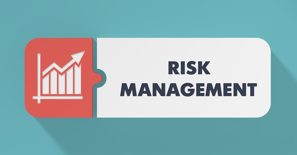 Risk Management Concept in Flat Design with Long Shadows.