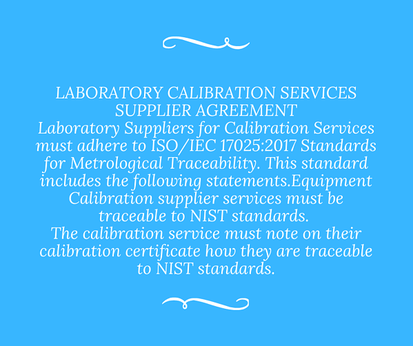 what is traceable to nist standards_alliance calibration